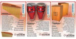 Diseño de folletería para Aniwina Percusión