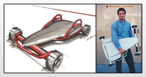 Diseño Industrial de Carrito a Rulemanes :: Rollcar :: Boceto y foto
