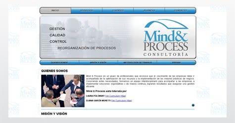 Diseño de sitio web para Mind & Process Consultora