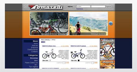 Diseño web sitio de Bicicletas Tomaselli