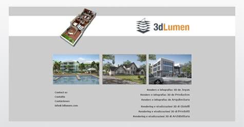 Diseño de sitio web para 3dLumen