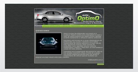 Diseño de sitio web para Autoptimo :: Servicios para automóviles