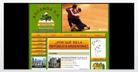 Diseño de sitio web para Ascanda Inversiones