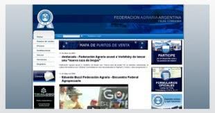 Diseño de sitio web para la Federación Agraria Argentina filial Córdoba