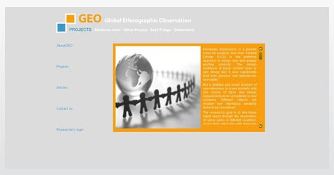 Diseño web para Global Ethnography