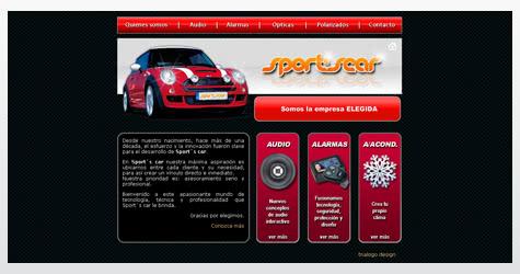 Diseño de sitio web para Sport´s car