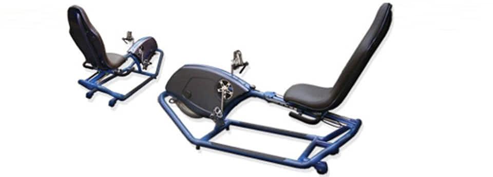 Diseño Industrial de bicicleta fija recumbente para rehabilitación y alta exigencia