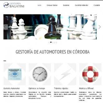 Diseño de sitio web para Gestoría Bagatini Córdoba