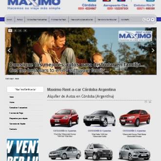 Diseño de sitio web Máximoz Rentacar Córdoba